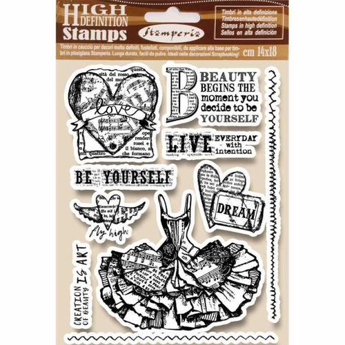 Stamperia Natural Rubber Stamps 14 x18 - Fly High - WTKCC165
