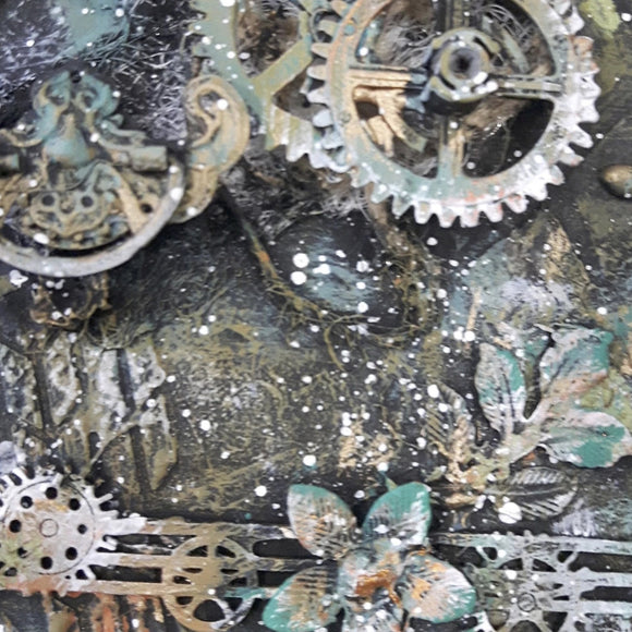 A4 ScrapBook Page Cogs - Digital Download