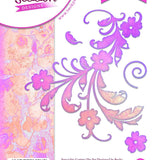Becky Seddon 'Swirling Spray' A6 Clear Stamp & Matching Die Set - DaliART