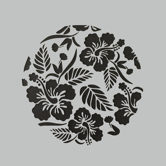 DaliART Stencils - Tropical Flowers - 7x7