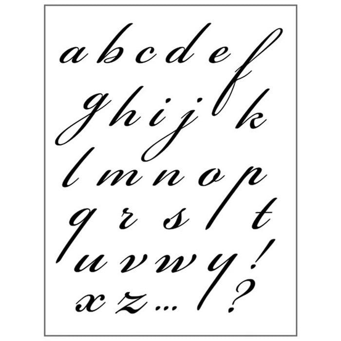 Stamperia Natural Rubber Stamps 14 by 18cm - Alphabet -WTKCC119