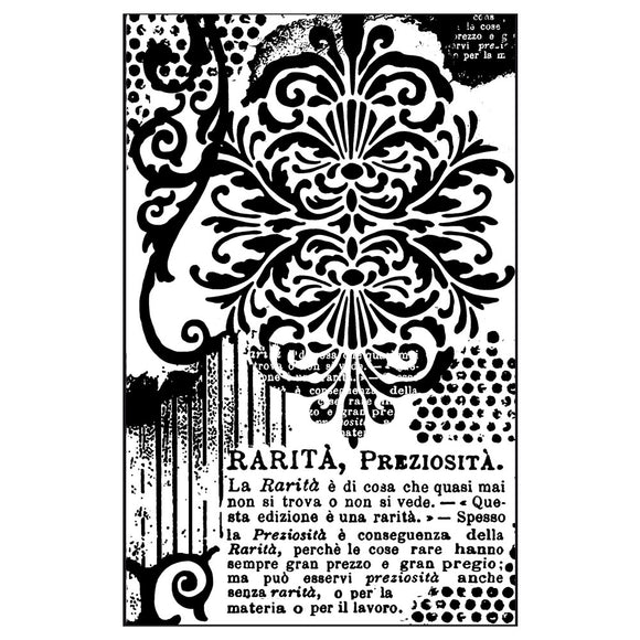 Stamperia Natural Rubber Stamps 7x11cm - Decorations with Writing