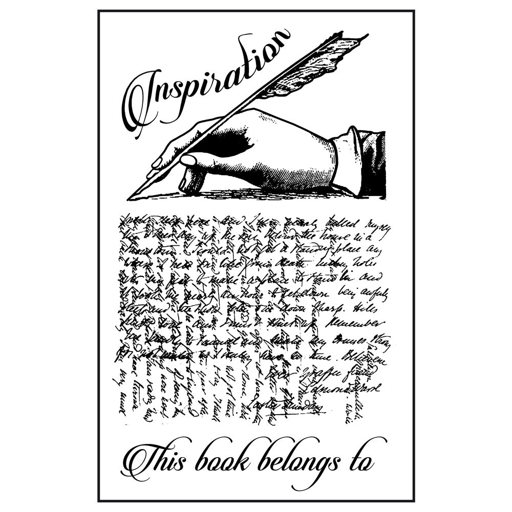 Stamperia Natural Rubber Stamps 7 by 11cm - Inspiration, Arts & Entertainment by The Craft House