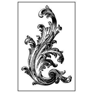 Stamperia Natural Rubber Stamps 7 by 11cm - VICTORIAN VOLUTE