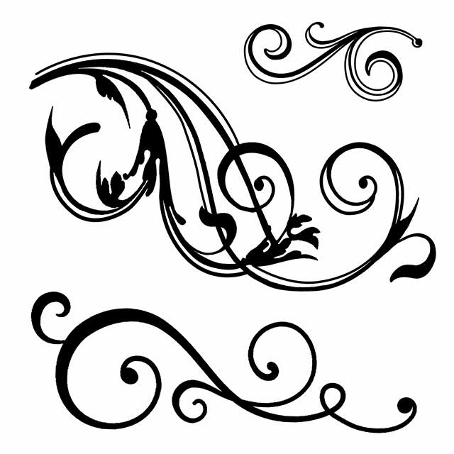 Stamperia Natural Rubber Stamps 10 by 10cm - Swirls WTKCC157