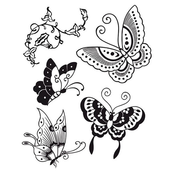 Stamperia Natural Rubber Stamps 14 by 18cm - Butterflies