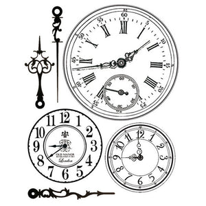 Stamperia Natural Rubber Stamps 14 by 18cm - Clock Faces