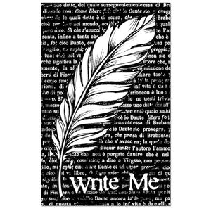 Stamperia Natural Rubber Stamps 7 by 11cm - Feathers