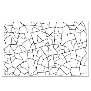 Stamperia Natural Rubber Stamps 7 by 11cm - Crackle Effect