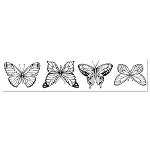 Stamperia Natural Rubber Stamps 4 x18cm - Butterflies