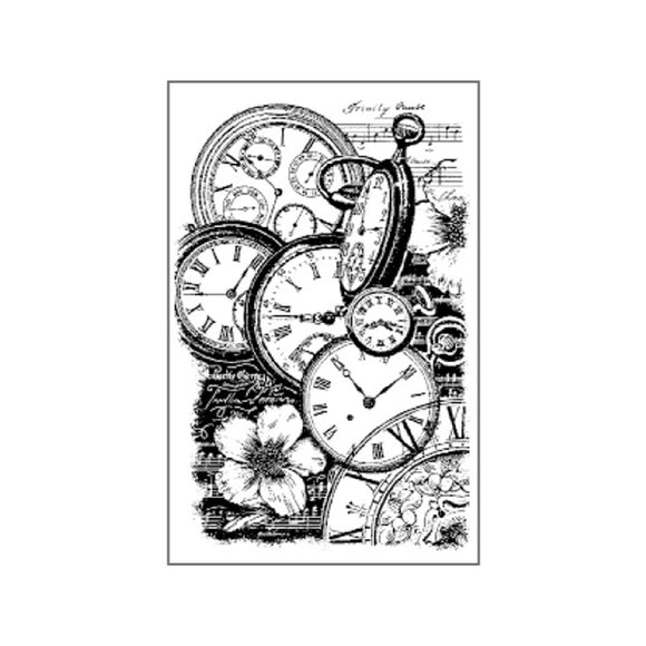 Stamperia Natural Rubber Stamps 7 by 11cm - Clocks