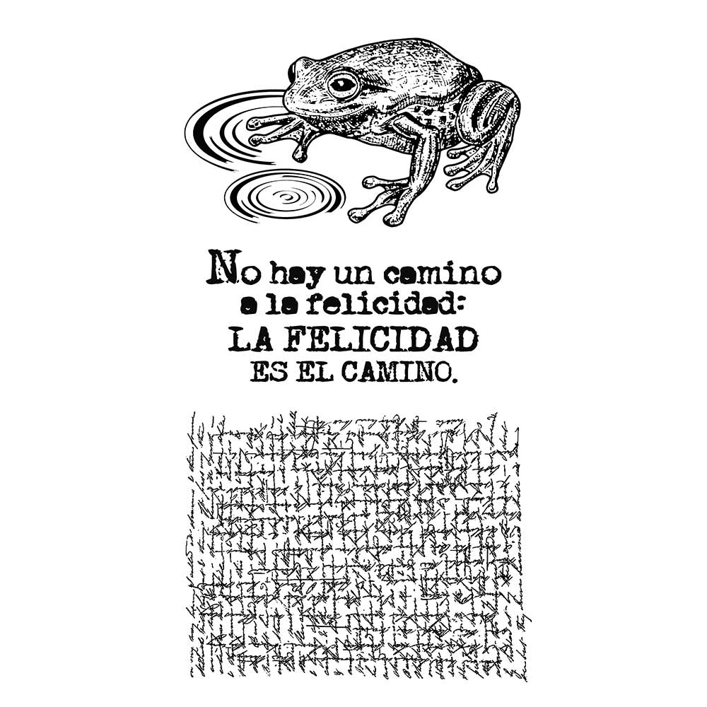 Stamperia Natural Rubber Stamps 10 x16.5 - Cosmos Frog- WTKCCR04