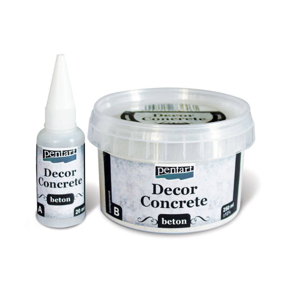 Pentart Decor Concrete set coarse 250 ml