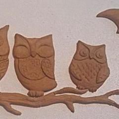 D'Arts elastic wood decorative owls & moon 71 - DaliART