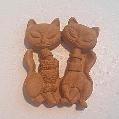 D'Arts elastic wood decorative cats 75 - DaliART
