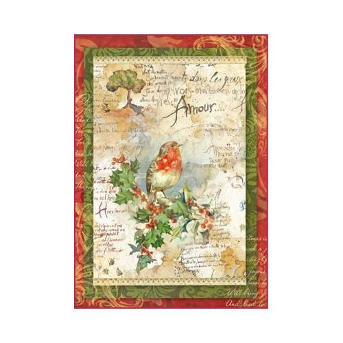 Set of 5 Stamperia Winter Collection Rice Papers