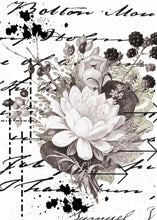 Load image into Gallery viewer, A5 Mixed Media Flower Script Stamp  - Digital Download