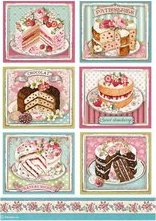Stamperia A4 Sweety Cakes DFSA500, Art & Craft Kits by The Craft House