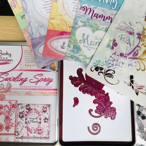 Swirling Spray Tin Collection, Decorative Stamps by The Craft House