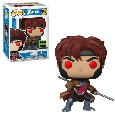 Funko POP! MARVEL #554 - X-MEN - Gambit ECCC 2020 Shared Exclusive