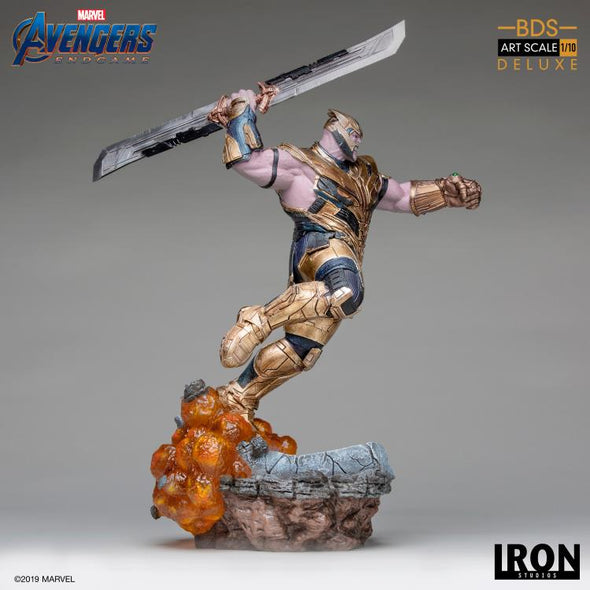 Iron Studios Avengers: Endgame Battle Diorama Series Thanos 1/10 Deluxe Art Scale Limited Edition Statue