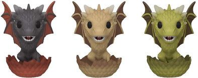 Funko POP! 3 Pack - Game of Thrones - Dragons Hatching (Drogon, Viserion & Rhaegal) ECCC 2020 Shared Exclusive