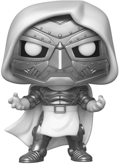 Funko POP! MARVEL #591 - Fantastic 4 - Dr. Doom (White) ECCC 2020 Shared Exclusive