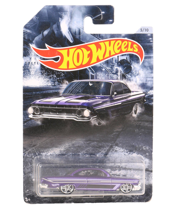 Hot Wheels Free Wheel Die Cast 61 Impala Toy Car - Purple