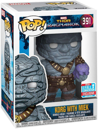 Funko POP! Marvel: Thor Ragnarok - Korg w/Miek Fall Convention Exclusive