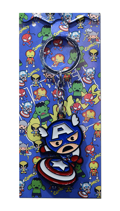 Marvel Comics Captain America   Chibi Die-Cast Metal Keychain