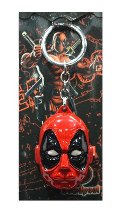 Marvel Comics Deadpool head-sculpt Die-Cast Metal Keychain