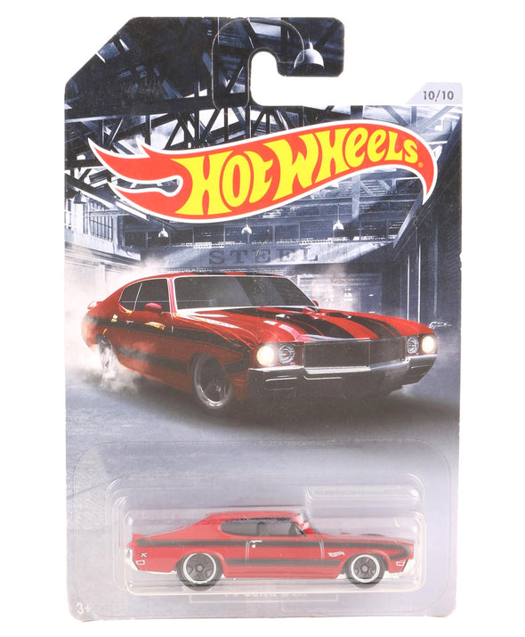 Hot Wheels Free Wheel Die Cast 70 Buick GSX Toy Car - Red