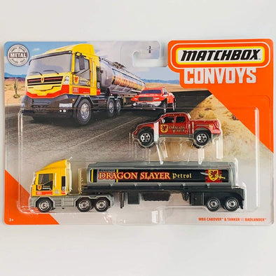 Matchbox Convoys Series MBX Cabover & Tanker with Badlander