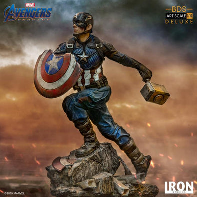 Iron Studios Avengers: Endgame Battle Diorama Series Captain America 1/10 Deluxe Art Scale Limited Edition Statue