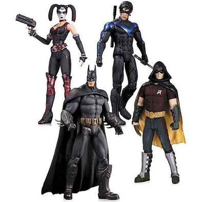 DC Collectibles Arkham City Robin, Harley Quinn, Batman & Nightwing Action Figure 4-Pack - Nerd Arena