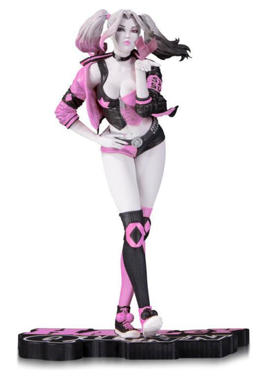 "DC Collectibles Pink White & Black Harley Quinn (Valentine's Variant) Limited Edition Statue by Stanley ""Artgerm"" Lau - Nerd Arena"