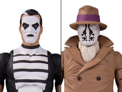 DC Collectibles Watchmen Doomsday Clock Rorschach & Mime Action Figure 2-Pack - Nerd Arena