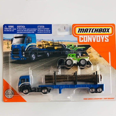 Matchbox Convoys Series Ford Cargo & Logger Bed, Dirt Smasher