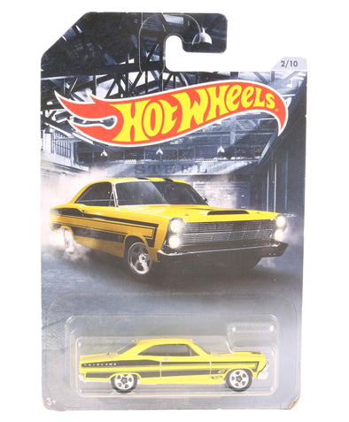 Hot Wheels Die Cast & Free Wheel 66 Ford 427 Fairlane Toy Car - Yellow
