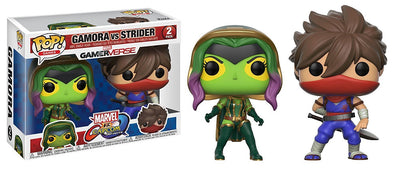 Funko Pop! Games: Marvel Capcom-Gamora Vs Strider Collectible Figure - Nerd Arena