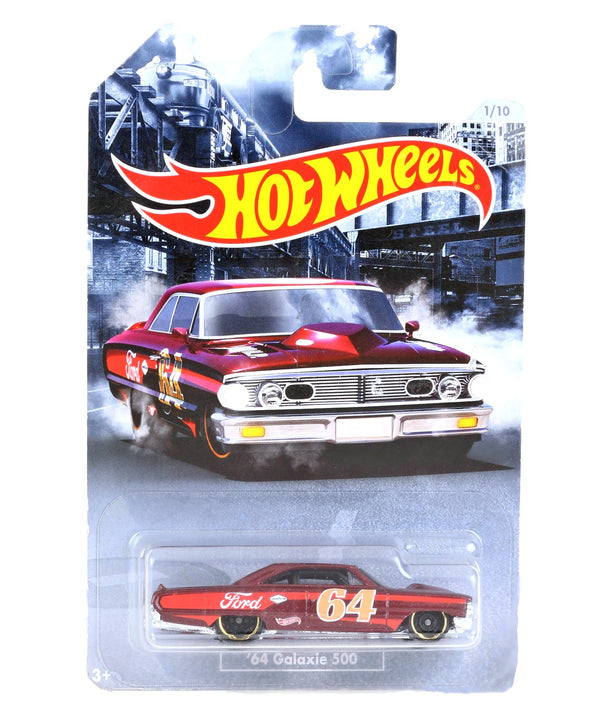 Hot Wheels Die Cast Free Wheel 64 Galaxie 500 Toy Car- Red