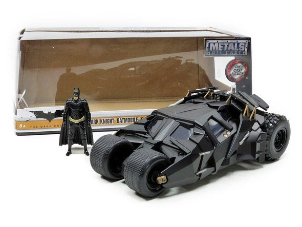 Jada 1:24 2008 The Dark Knight Trilogy Batmobile W/Batman - Nerd Arena