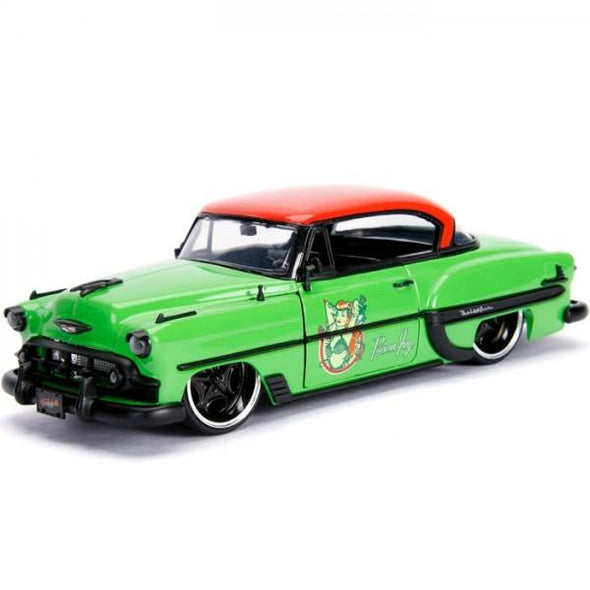 Jada 1:24 Scale DC Bombshell 1953 Chevy Bel Air Hard Top w/ Poison Ivy Figure - Nerd Arena