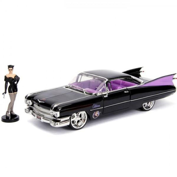 Jada 1:24 Scale DC Bombshell 1959 Cadillac w/ Catwoman Figure - Nerd Arena