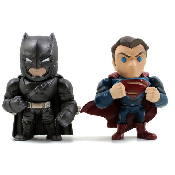 Jada Toys DC Comics Metals Diecast Batman v Superman 4 inch Figure - 2 Pack - Nerd Arena