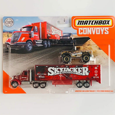 Matchbox Convoys Series Lonestar Cab Box Trailer with 1972 Ford Bronco 4x4