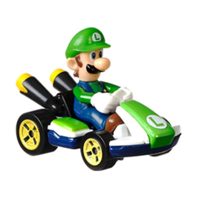 MARIO KART LUIGI STANDARD KART BY HOT WHEELS