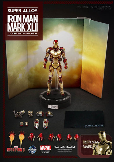 MARK 42 XLII 1/12 Iron Man Play Imaginative Super Alloy Diecast Action Figure - Nerd Arena