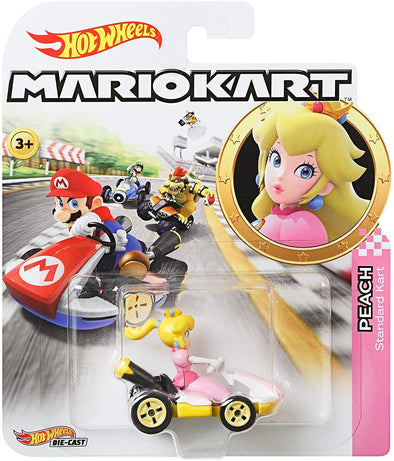 Hot Wheels GBG28 Mario Kart 1:64 Die-Cast Peach with Standard Kart Vehicle