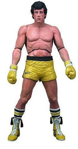 Rocky Series 3 Rocky Balboa - Gold Trunks 7 inch Action Figure by NECA - Nerd Arena